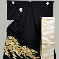 【留袖】金駒刺繍黒留袖