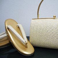 【和装小物】金鷲印草履・バッグセット