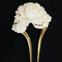 【和装小物】白珊瑚かんざし